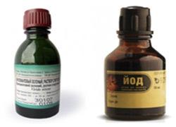 Можно ли мазать геморроидальные узлы йодом или зеленкой?
