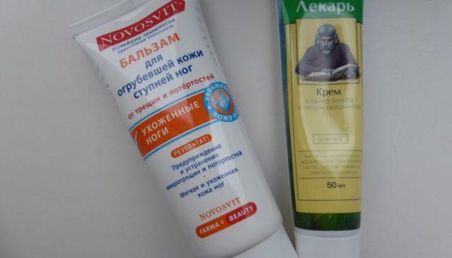 Кератолитические средства: мази, кремы, гели для размягчения и удаления огрубевшей кожи